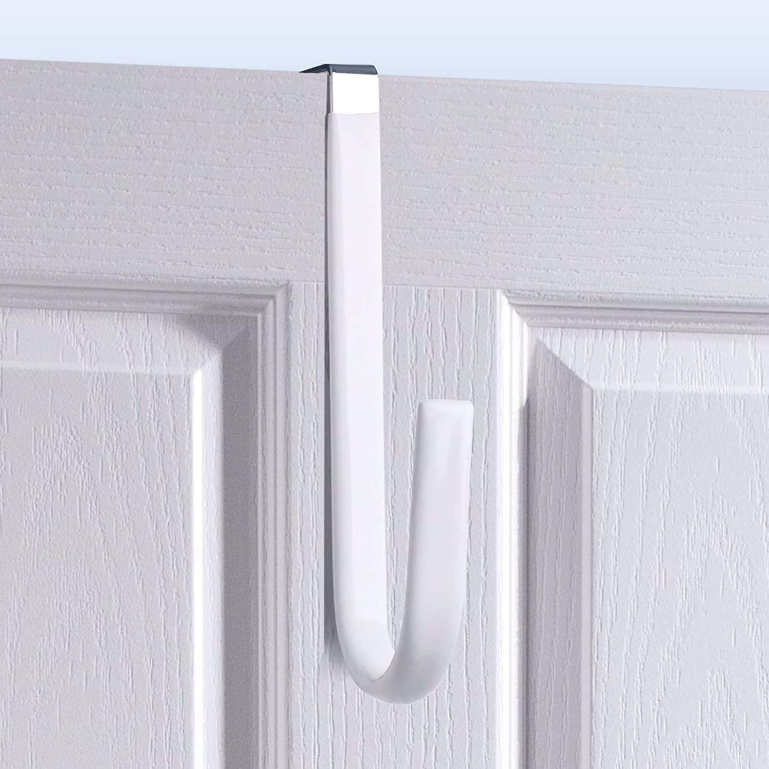Over Door Hook White - 4Pack Surface Preve online shop Soft Design to Fresno Mall Rubber
