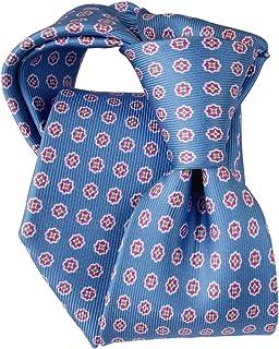 [ステファノ ビジ] ネクタイ ビジネス ブランド イタリア製 シルク メンズ 小紋 プリント ブルー