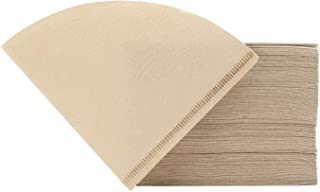 Coffee Filters, Segarty 200 Count #2 Natural Brown Disposable Coffee Paper Filters, Tabbed, Unbleached for Better Tasting Pour-over Brewers, Food Service & Home Use