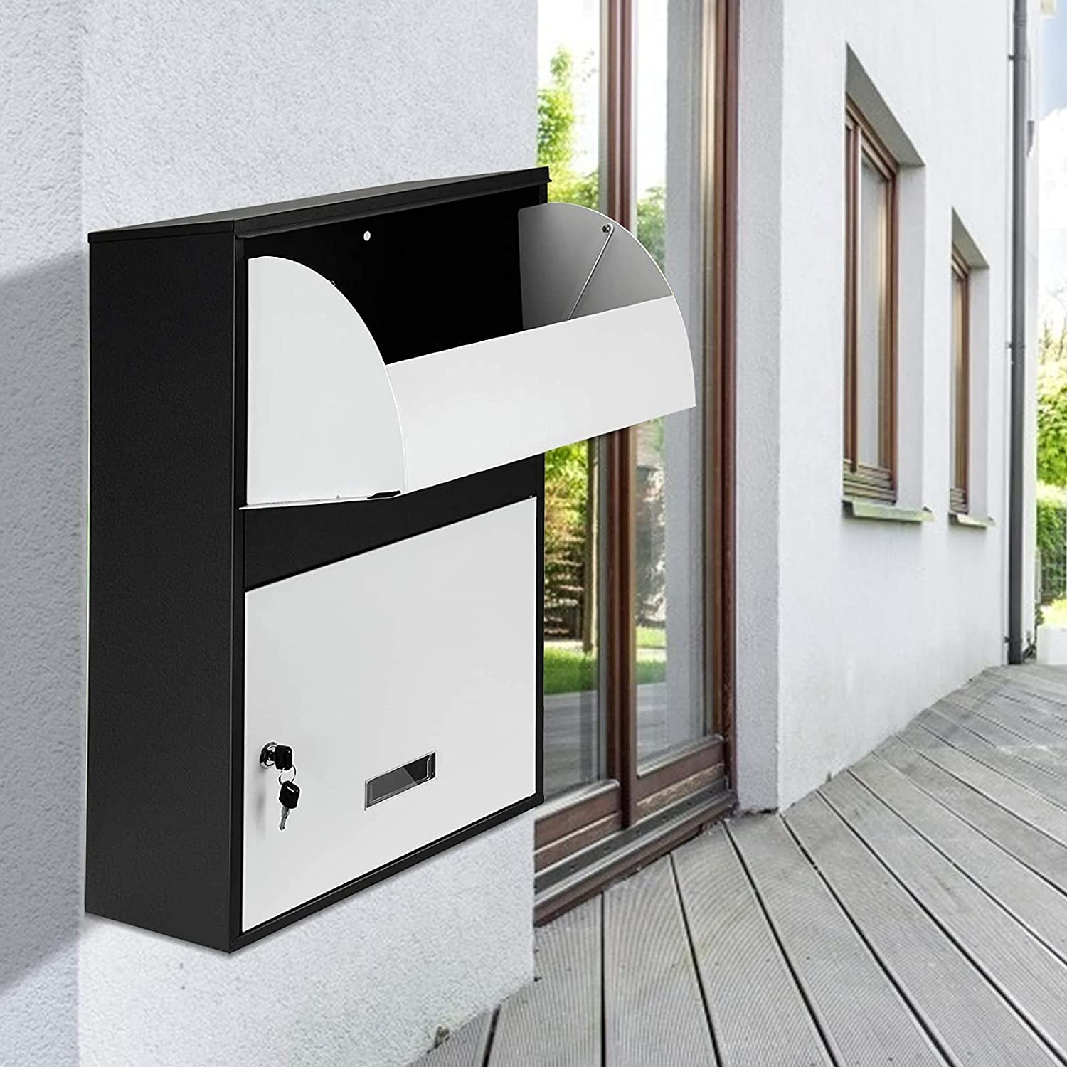 TELAM Lowest price challenge Parcel Box Outsidoor Waterproof Steel Express Max 84% OFF with Sturdy