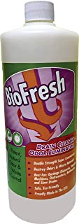 BioFresh - Enzyme Drain Cleaner & Odor Eliminator. Deodorizes and Unclogs Smelly Garbage Disposals, Washing Machines and Slow Drains. Super concentrate w/Pleasant Fragrance (32oz)