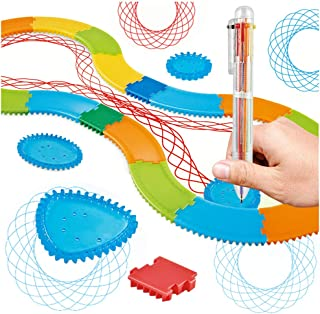 Magic Ruler Drawing Gear Deluxe Set with Multicolor Pen, Drawing Toys Set Drawing Accessories Creative Educational Toy for...