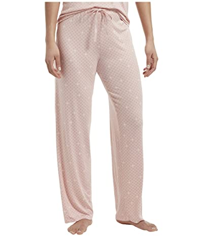 HUE Solid Long PJ Pants with Temp Tech (Calming Rose) Women