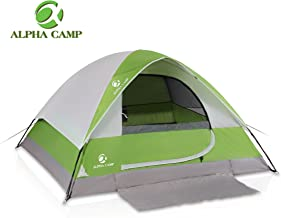 ALPHA CAMP Dome Family Tent for Camping Backpack Tent