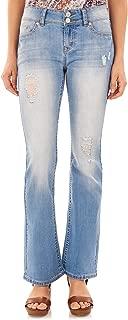 WallFlower Women's Juniors Luscious Curvy Stretch Denim Bootcut Jeans (30