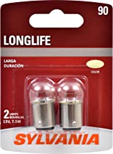 SYLVANIA - 90 Long Life Miniature - Bulb, Ideal for Interior Lighting – Map, Dome and More. (Contains 2 Bulbs)