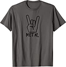 Metal T-Shirt Shirt for rock band rock and roll drums artist