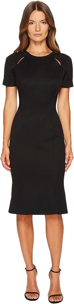 Zac Posen - Bondage Jersey Short Sleeve Dress