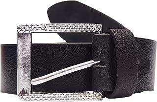 Lavish Nest Men's Belt, Leather Belt For Mens, Fashionable Stylish Belt With Single Prong Buckle Black