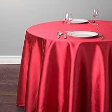 LinenTablecloth Round Shantung Silk Tablecloth, 118
