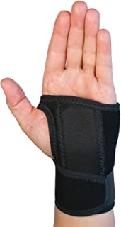 L&R Carpal Gel Wrist Support, Wrist Brace for Carpal Tunnel Surgery, Features Medical Grade Mineral Oil for Scar Healing, Breathable Fabric & Adjustable Strap, Left, Size Small/Medium