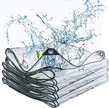 Transparante PVC zeildoek van 0,4 mm dikte Rain Zeilendoek Outdoor Waterdicht Tarpaulin Aangepast formaat,4mX5m