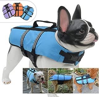 Lovelonglong Pet Clothing Dog Lifejacket Life Jackets for Large Medium Small Dogs Swimming Safe Boating Coat Dog Swim Protect Outwear