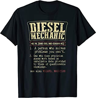 Funny Diesel Mechanic meaning t shirts vintage design