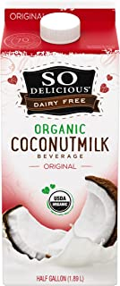 So Delicious Dairy-Free Organic Coconutmilk Beverage, Original, 64 Ounce Plant-Based Vegan Dairy Alternative, Great in Smoothies Protein Shakes or Cereal