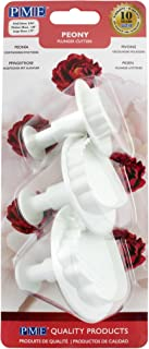 PME PY504 Set of 3 Peony Plunger Cutter, White