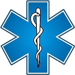 EMT EMS Paramedic Blue Star of Life Caduceus Reflective Decal - 3