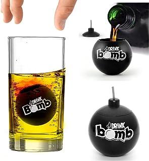 Bar Amigos Novelty Drink Bomb Shots En Cocktail Menu Recept Ideeën Kaarten, Zwart, Set van 4, 25 ml - Voeg toe aan Shot Br...
