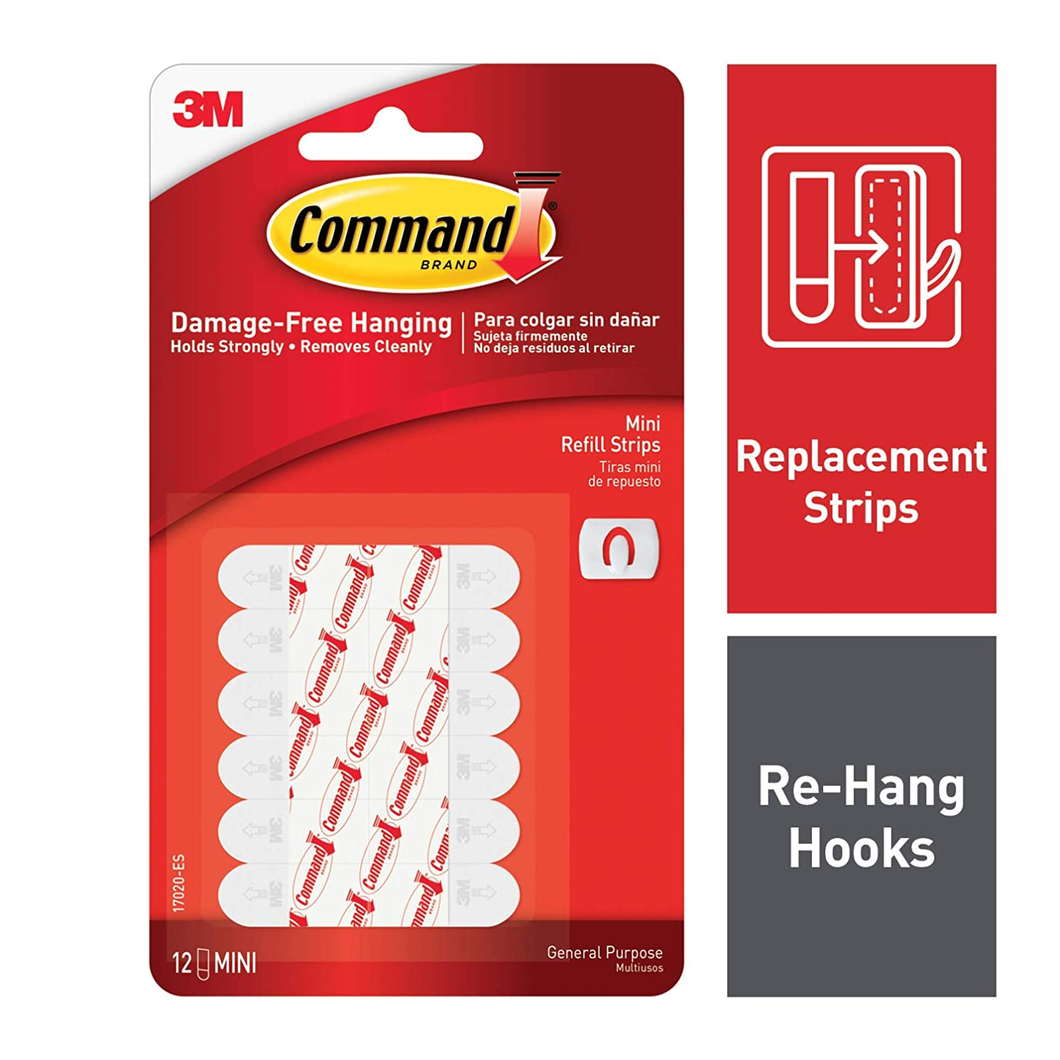 Command Decorating Clip Strips, White, 12-Strip