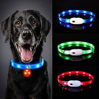 Oladwolf Upplyst hundkrage, LED-hundkragslampor för mörkret, ultraljust USB-uppladdningsbart snitt för att passa alla stor...