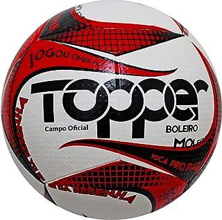 5588d52db7439 Bola Futebol de Campo Boleiro Branco Vermelho 2019 - Topper