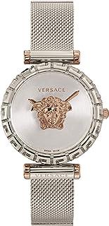 ساعة فيرساتشي للسيدات ستانلس ستيل رسمية Vedv00419، فضي