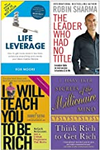 Life Leverage, The Leader Who Had No Title, I Will Teach You To Be Rich, Secrets of the Millionaire Mind 4 Books Collection Set