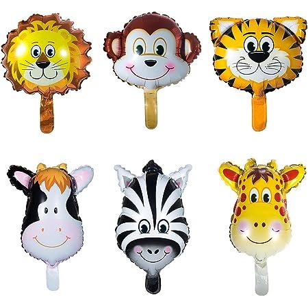 Vordas 12 Pezzi Palloncini Animali Giungla, Palloncini Animali Elio - L'elio è Permesso, Perfetto per i Bambini Decorazione Festa di Compleanno (Dimensioni: Circa 20cm)