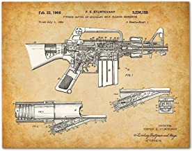 M-16 Rifle - 11x14 Unframed Patent Print - Makes a Great Gift Under $15 for Military Soldiers/Veterans or Gun Enthusiasts