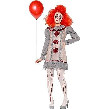 Smiffys Clown Lady Costume Disfraz de payaso vintage, color gris y ...