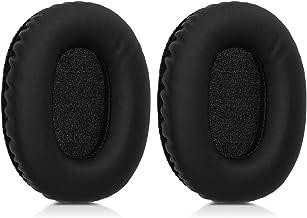 kwmobile 2X Almohadillas para Auriculares Compatible con Marshall Monitor - Almohadilla de Cuero sintético para Cascos
