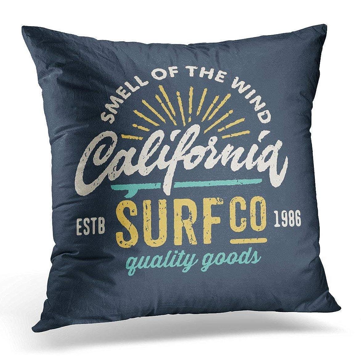 脅迫印をつける便利枕カバー、クッションカバーを投げて、枕ケースを投げてください、サーフィン会社のためにネイビーサーフビンテージアパレルグラフィックデザイン