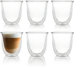 Caffé Italia Napoli 6 Juego de Vasos para Capuchino 250 ml - 6 x Vasos Térmicos - para Bebidas frías, Calientes, té y Latte Macchiato - Aptos para lavavajillas