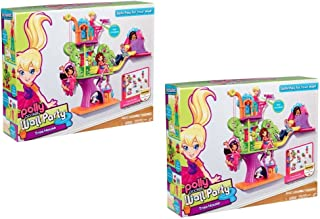 Set of 2 Polly Pocket Wall Party Tree House Playset