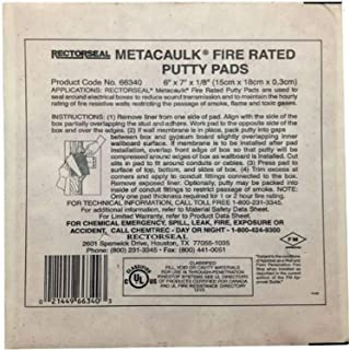 Rectorseal 66340 6-Inch by 7-Inch by 1/8-Inch Metacaulk Fire Rated Putty Pads
