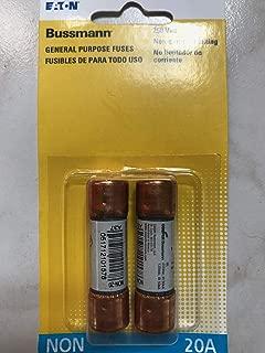 Bussman BP/NON-20 20 Amp 250 Volt Fast Acting Cartridge Fuses 2 Count