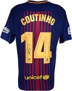 1880f8451 Philipe Coutinho Signed 2017 18 Nike Barcelona Soccer Jersey BAS