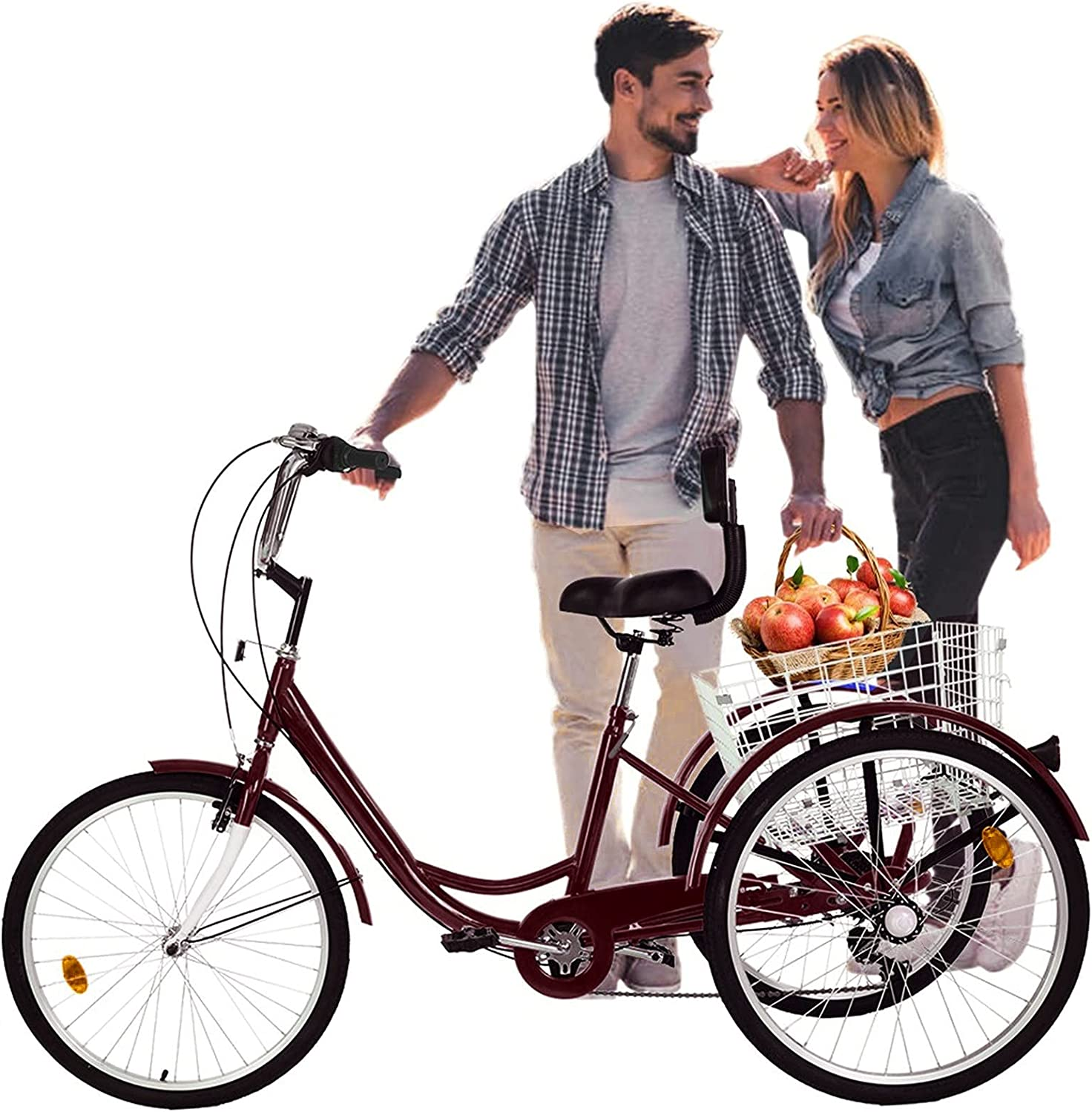 Adult Tricycle 3-5 Days Clearance SALE Limited time Delivery 7 inch Three B Speed 24 Excellent Wheel