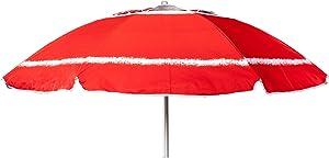 Joy Summer Ombrellone in Alluminio Spiaggia Mare con Camino Anti-Vento Ultra Leggero PANAREA - Rosso