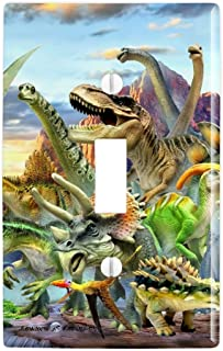 GRAPHICS & MORE Dinosaurs Jurassic Dinosaurious Stampede Plastic Wall Decor Toggle Light Switch Plate Cover