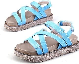 British Denim Platform Women's Magic Paste Rome Sandals Thick Bottom trend6.15
