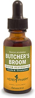 Herb Pharm Butcher's Broom Liquid Extract for Cardiovascular and Circulatory Support, 1 Fl Oz