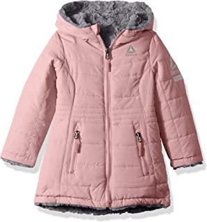 Girls' Active Hooded Reversible to Faux Fur Jacket