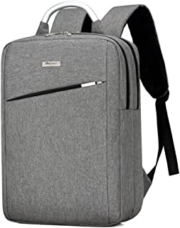 Laptop Backpack Lightweight Waterproof Business Travel School Daypack (Grey)