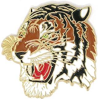 PinMart Colored Mascot Tiger School Sports Enamel Lapel Pin