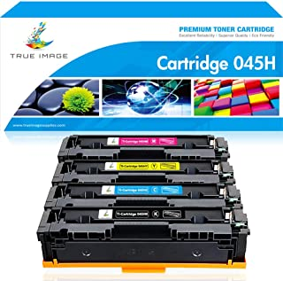 True Image Compatible Toner Cartridge Replacement for Canon 045 045H MF634 CRG-045H Color ImageCLASS MF634Cdw MF632Cdw LBP612Cdw MF632 LBP612 Printer Ink (Black Cyan Yellow Magenta, 4-Pack)