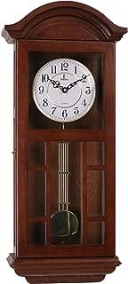 silent wooden wall clock