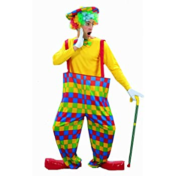 Circus Clown Trousers Mens Clowns Fancy Dress Accessory Spotty M-XL