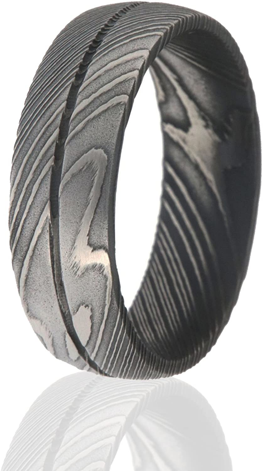 The Jewelry Source Super beauty product restock quality top! Damascus Steel Ring Rings for Dallas Mall