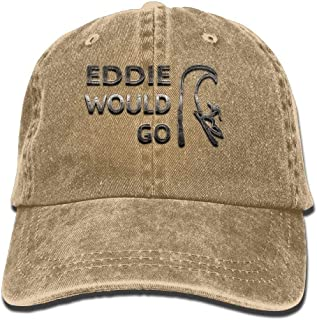 TosaWCAP Eddie Would Go Trend Printing Cowboy Hat Fashion Baseball Cap for Men and Women Black